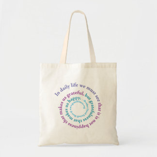 """If You Want to be Happy..."" Spiral, Totebag Tote Bag"