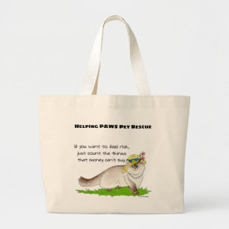 If you want to feel rich... large tote bag