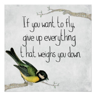 If You Want to Fly Motivational Poster Perfect Poster
