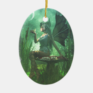 If you want to meet a handsome prince... ceramic oval ornament