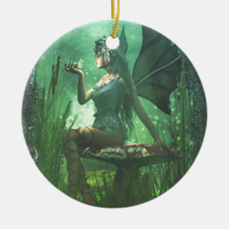 If you want to meet a handsome prince... round ceramic ornament