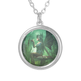 If you want to meet a handsome prince... silver plated necklace