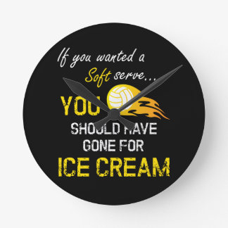 If You Wanted A Soft Serve Ice Cream - Volleyball Round Clock