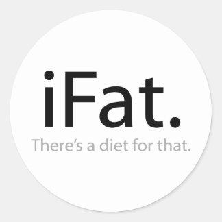 iFat Round Sticker