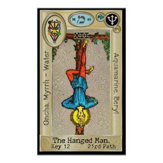 Ifdawn Deepdream Tarot Key 12 ~ Hanged Man Poster
