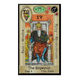 Ifdawn Deepdream Tarot Key 4 ~ The Emperor Poster