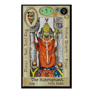 Ifdawn Deepdream Tarot Key 5 ~ The Hierophant Poster