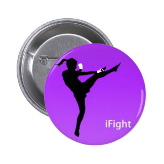iFight girl round button