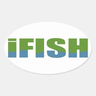 Ifish Oval Sticker
