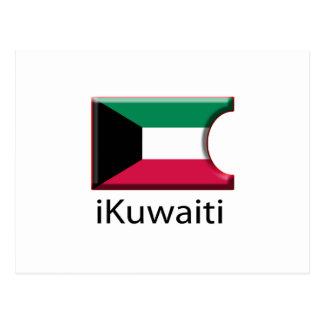 iFlag Kuwait Postcard