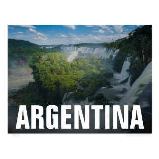 Igauzu Falls In Argentina Postcard