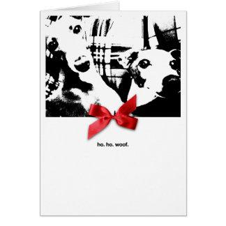 Iggy Christmas Ho. Ho. Woof. Greeting Card