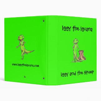 Iggy leaning, Iggy the Iguana Vinyl Binder