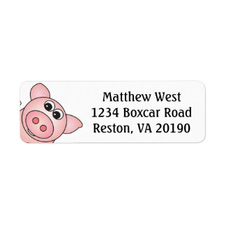 Iggy the Piggy Labels