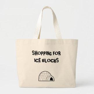 igloo 1, SHOPPING FORICE BLOCKS Large Tote Bag