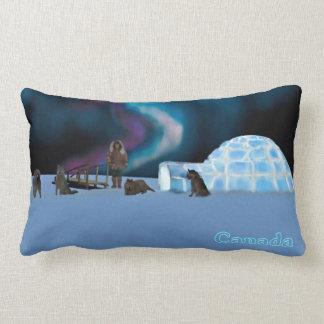 Igloo and Northern Lights - Canada Lumbar Pillow