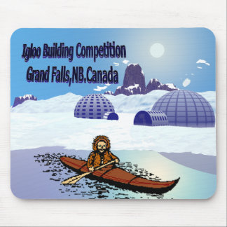 Igloo building competition. mouse pad