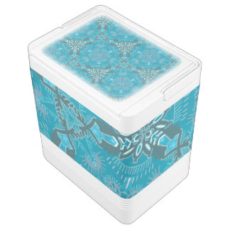 Igloo can cooler Jimette Design grey and blue