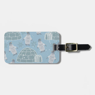 Igloos and Penguins Pattern Bag Tag
