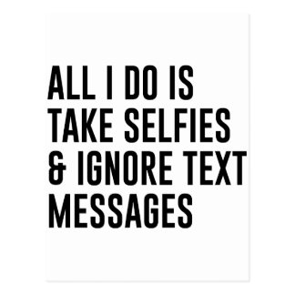 Ignore Texts Postcard
