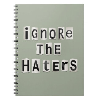 Ignore the haters. notebook