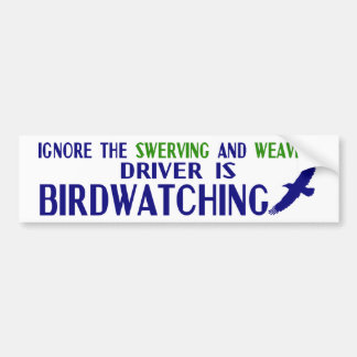 Ignore the Swerving Car Bumper Sticker