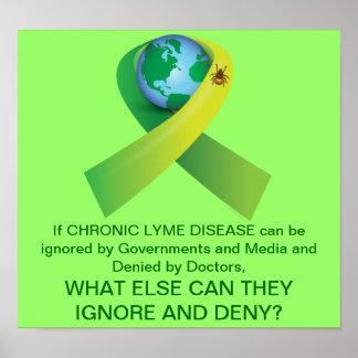 Ignoring and Denying Chronic Lyme Disease Epidemic Poster