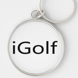 iGolf Silver-Colored Round Keychain