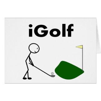 iGOLF stick person Card