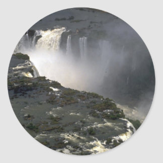 Iguacu Falls from the air, border of Argentina and Classic Round Sticker