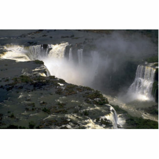 Iguacu Falls from the air, border of Argentina and Photo Cutouts