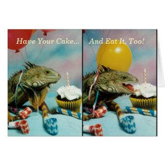 Iguana Birthday Card