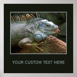Iguana custom poster