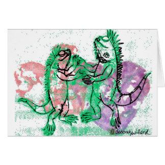 Iguana Dance with You Card