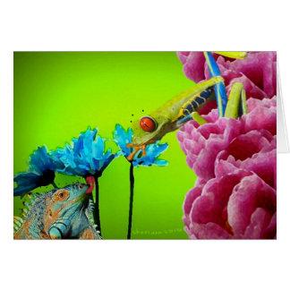 Iguana & Frog Card