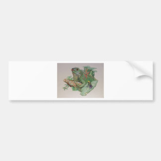 Iguana/Frog looking on Bumper Sticker