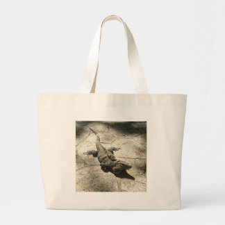 Iguana , Giant Lizard in Mexico Large Tote Bag