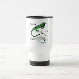 Iguana Go On A Cruise Travel Mug