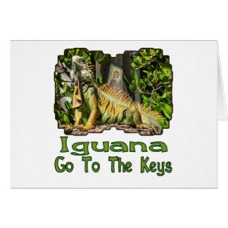 Iguana Go To The Keys Card