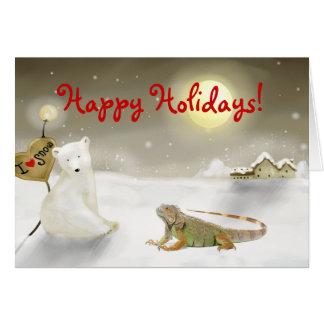 Iguana Holiday card