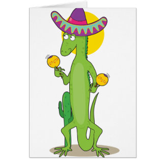 Iguana In A Sombrero Note Cards