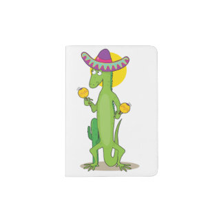 Iguana In A Sombrero Passport Holder