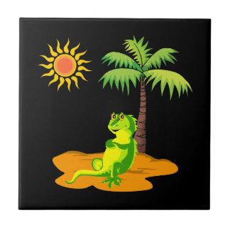 Iguana In The Desert Tile