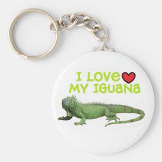 """Iguana Keychain """"I love my Iguana"""""""