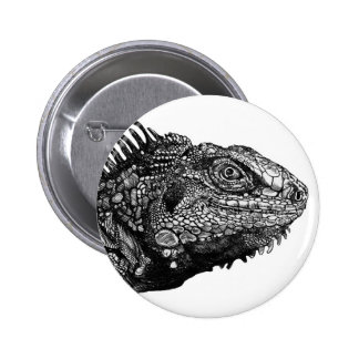 Iguana Melon 2 Inch Round Button