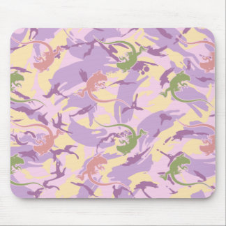 Iguana Pattern Mouse Pad