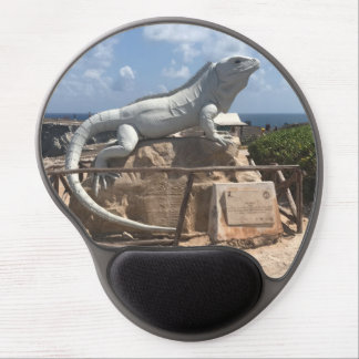 Iguana Sculpture Isla Mujeres, Mexico Gel Mousepad