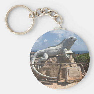 Iguana Sculpture Isla Mujeres, Mexico Keychain