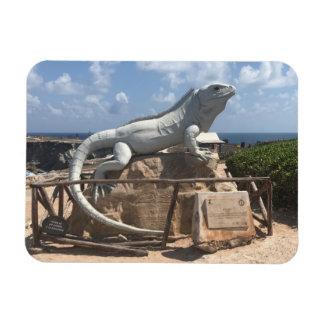 Iguana Sculpture Isla Mujeres, Mexico Photo Magnet