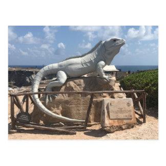 Iguana Sculpture Isla Mujeres, Mexico Postcard